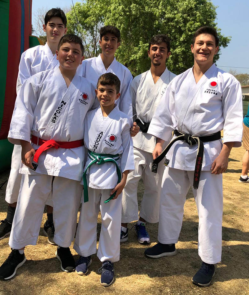 Sensei Chris and his demonstration team at the sunninghill Garden festival